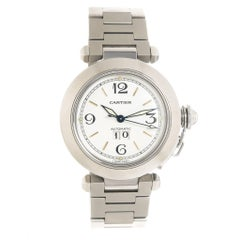 Cartier Stainless Steel Pasha C Big Date Automatic Wristwatch, Circa 2000