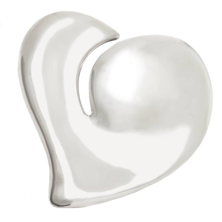 Tiffany & Co. Elsa Peretti larger Silver Heart Buckle