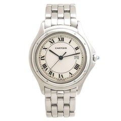 Cartier Stainless Steel Cougar Large Quartz Wristwatch