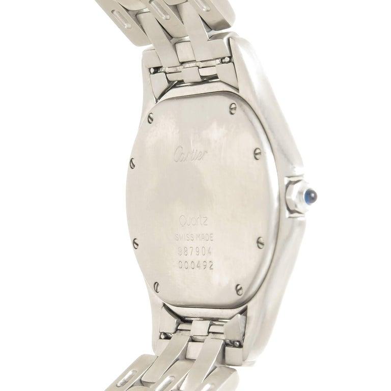 Women's or Men's Cartier Stainless Steel Cougar Large Quartz Wristwatch