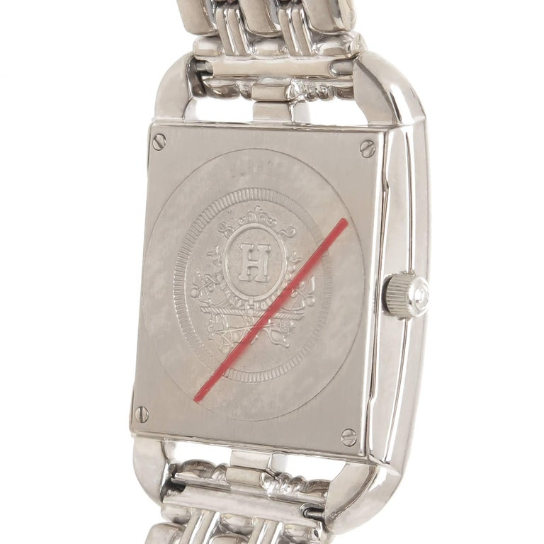 Hermes Ladies White Gold Diamond Cape Cod Quartz