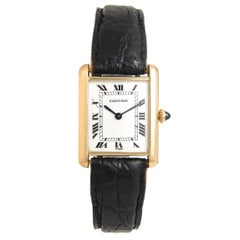 Cartier Paris Yellow Gold Tank Mechanical Wristwatch