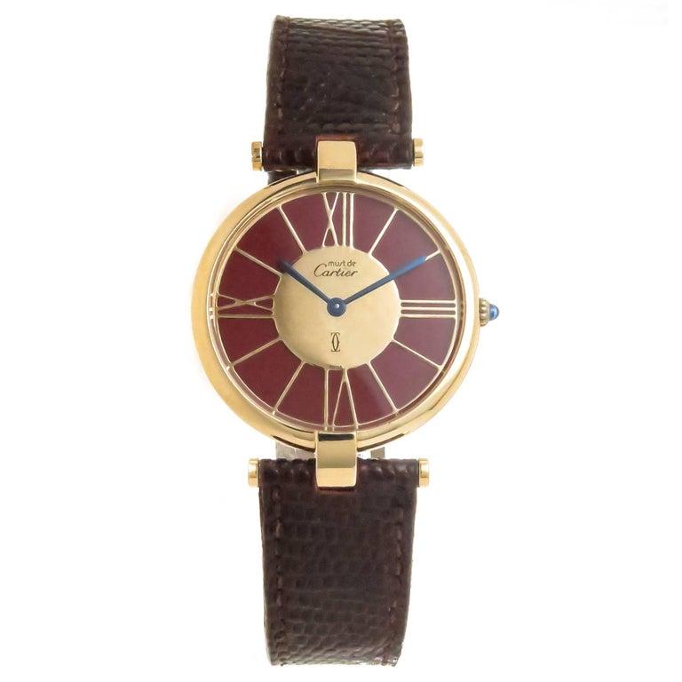 Cartier Vermeil Vendome large Quartz Wristwatch, circa 1990s