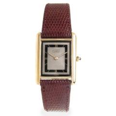 Cartier Vermeil Tank Quartz Wristwatch