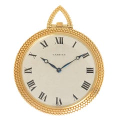 Audemars Piguet for Cartier Yellow Gold Manual Wind Pocket Watch