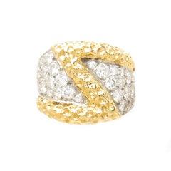 Kutchinsky Yellow Gold and Diamond Ring