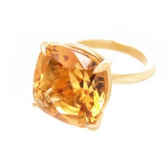 Tiffany & Co. Gold and Large Citrine Sparklers Collection Ring