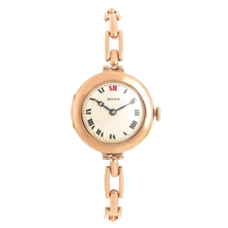 Rolex Rose Gold Early Ladies Wristwatch