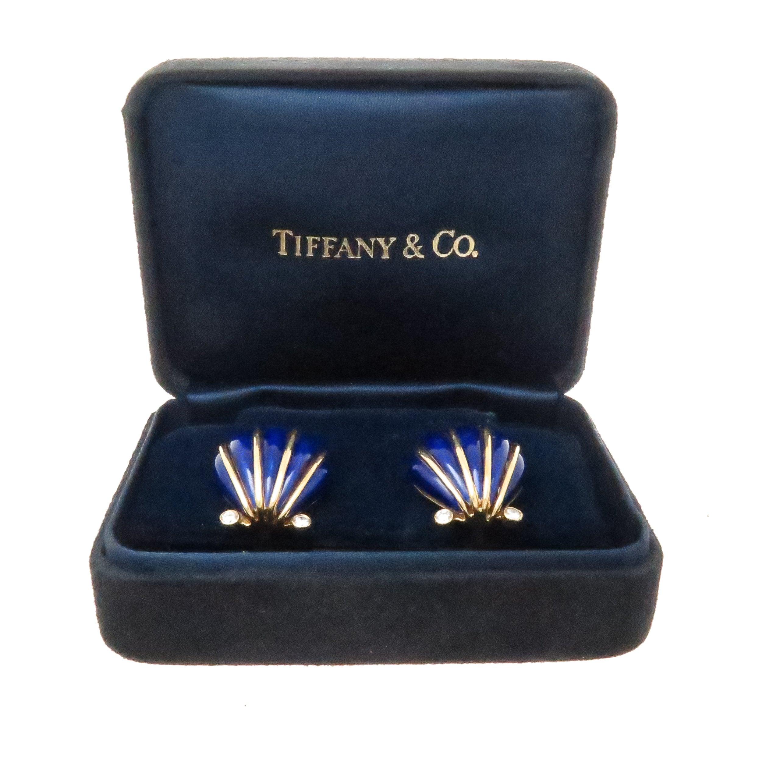 Tide Jewellery Enamel Shell Shape Black Green Trinket Box