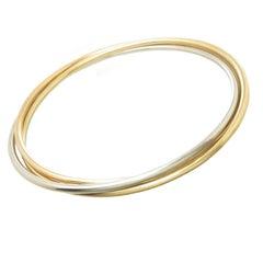 Cartier Trinity Tri Color Gold Bangle Bracelet 1980