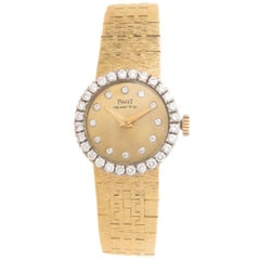 Piaget Ladies Yellow Gold Diamond Quartz Wristwatch, Circa 1980
