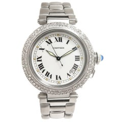 Cartier Stainless Steel Diamond Pasha Automatic Wristwatch