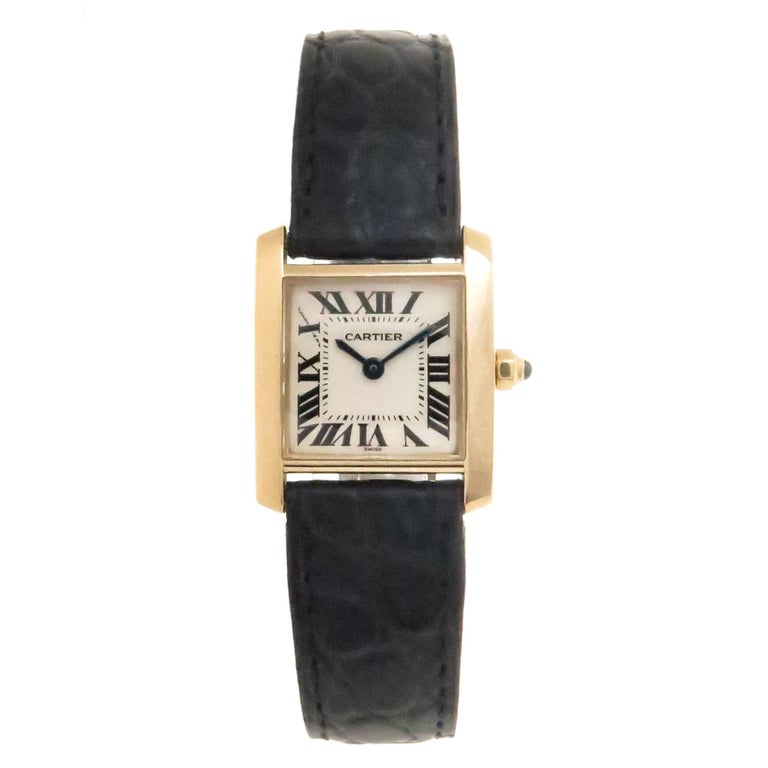 Cartier Ladies Yellow Gold Tank Francaise Quartz Wristwatch