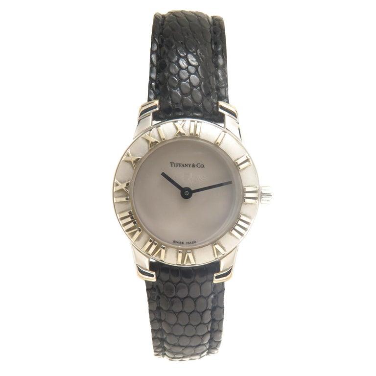 Tiffany & Co. Ladies Sterling Silver Atlas Quartz Wristwatch