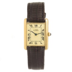 Cartier Vermeil Must de Cartier Tank Quartz Wristwatch