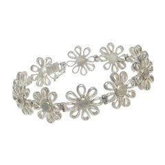 Tiffany & Co. Elsa Peretti Silver Flower Bracelet