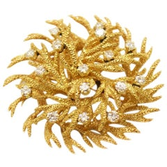 Tiffany & Co. Yellow Gold and Diamond Branches Brooch