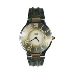 Cartier Must de Cartier Steel and Gold Accented Quartz Wristwatch