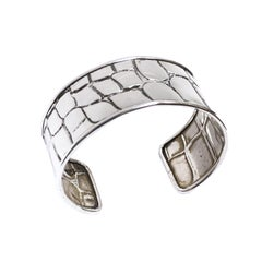 Tiffany & Co. Silver Alligator Textured Cuff Bracelet