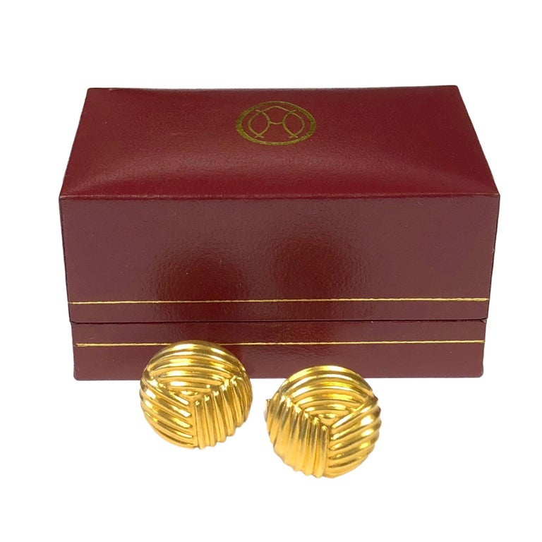 Men's Lalaounis Yellow Gold Cufflinks For Sale