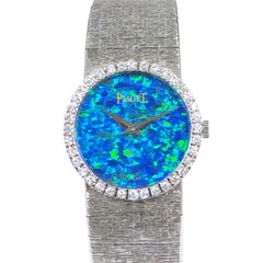 Piaget White Gold Diamond and Opal Dial Ladies Wrist Watch