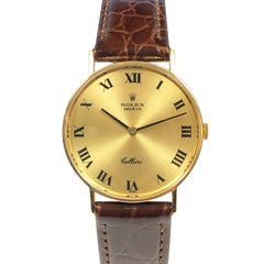 Rolex Cellini Yellow Gold Mechanical Gents Wristwatch