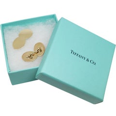 Tiffany & Co. Yellow Gold Cufflinks for Engraving