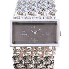 Omega De Ville Vintage Large Silver Mechanical Bracelet Watch