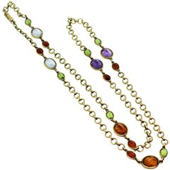 Tiffany & Co. Yellow Gold and Gem Stone Necklace