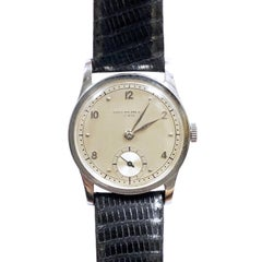 Patek Philippe Calatrava 1950s Steel Manual Wind Wristwatch