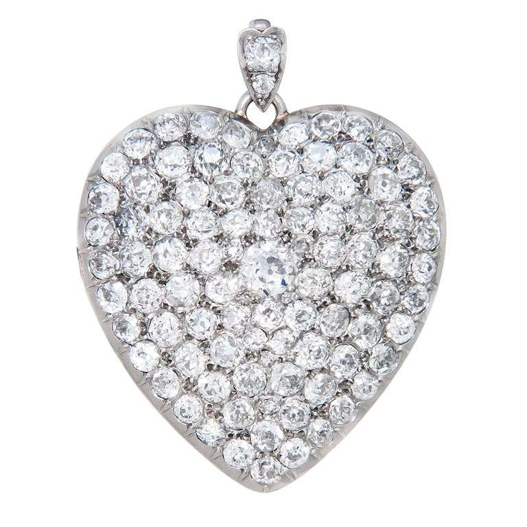 products star charm heart victorian boylerpf filled grande locket gold diamond