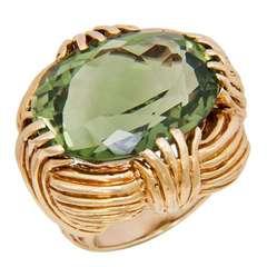 Ruser Large Green Amethyst Quartz Ring