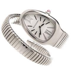 Bulgari Lady's Stainless Steel Serpenti Spiga Quartz Wristwatch