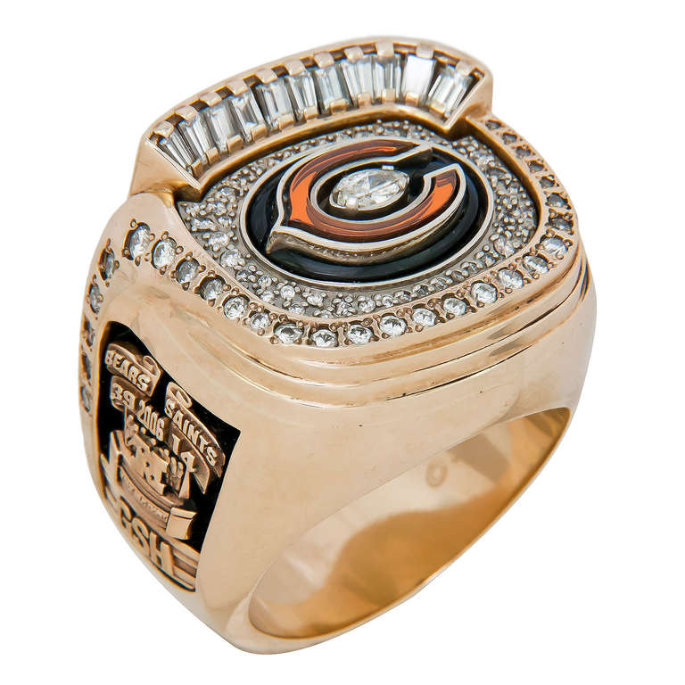 chicago bears nfc 2006 chionship players ring at 1stdibs