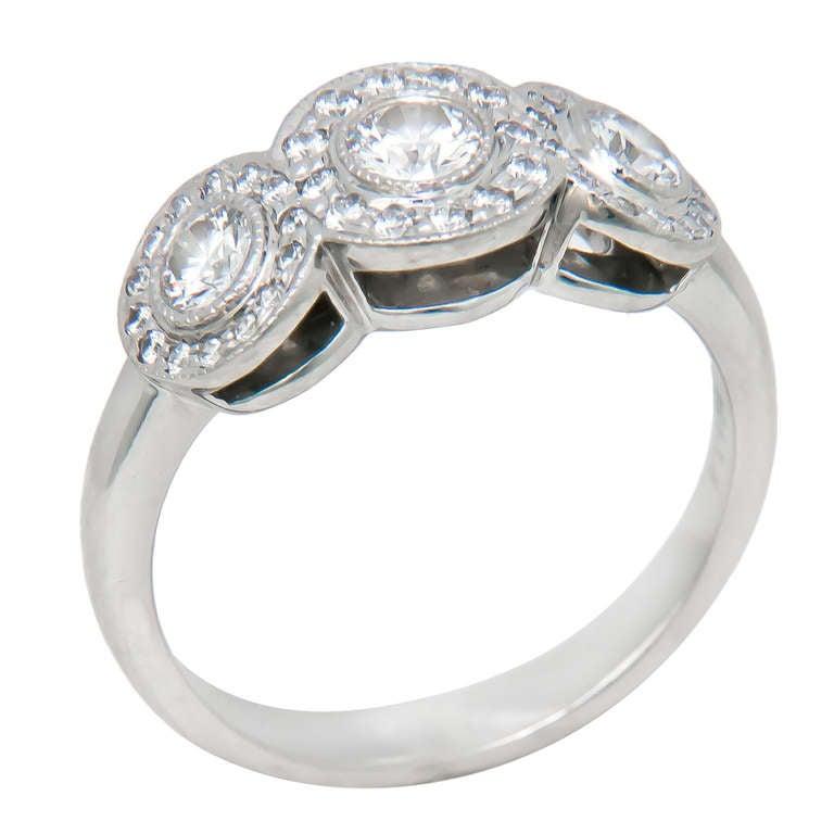 Tiffany and Company Platinum and Diamond Circlet Ring at ...