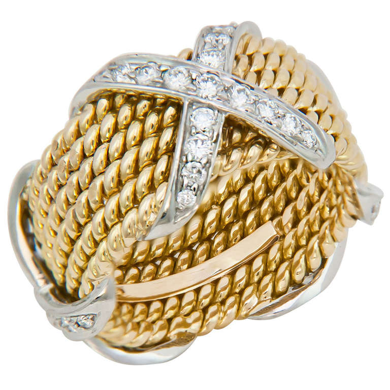 Tiffany And Co Schlumberger X Ring At 1stdibs