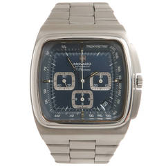 Movado Stainless Steel El Primero Chronograph Wristwatch With Olympic History