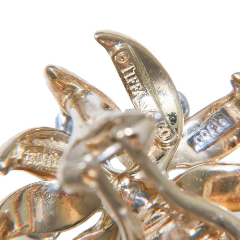 Tiffany & Co. Schlumberger Flame Diamond Ear Clips 4
