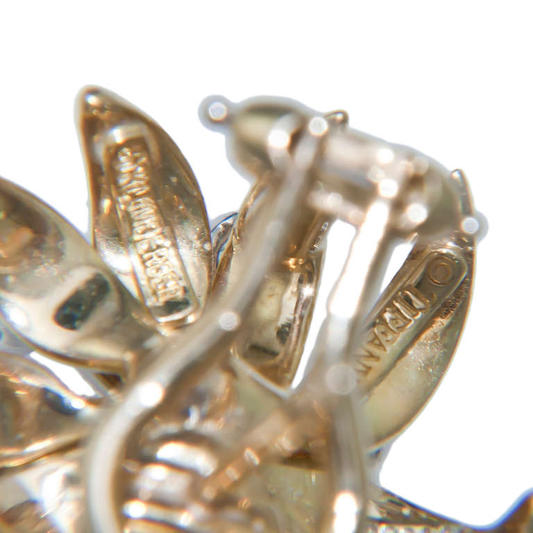 Tiffany & Co. Schlumberger Flame Diamond Ear Clips 3