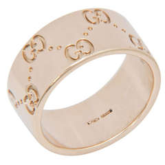 Gucci Yellow Gold Classic Band Ring