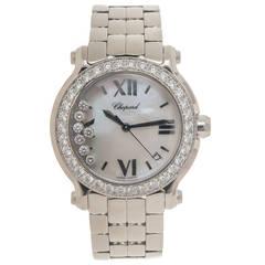 Chopard Lady's Stainless Steel Diamond Happy Sport Mid Size Quartz Wristwatch
