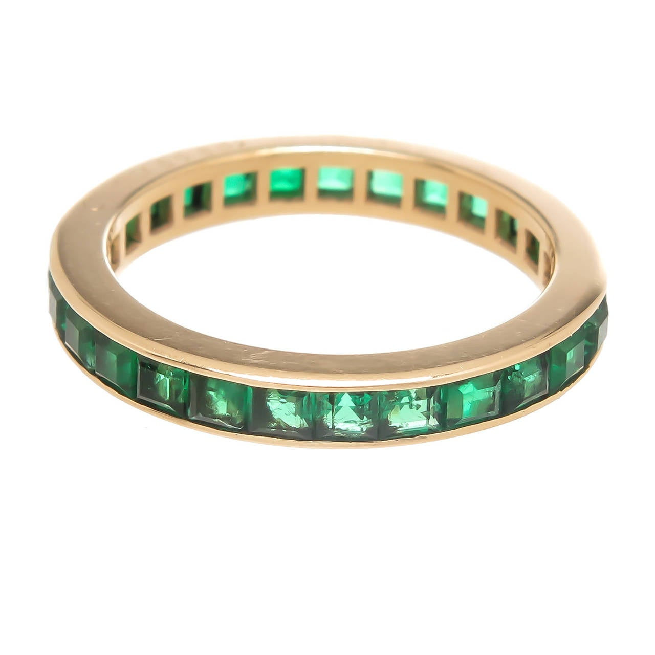 cartier emerald gold eternity band ring at 1stdibs