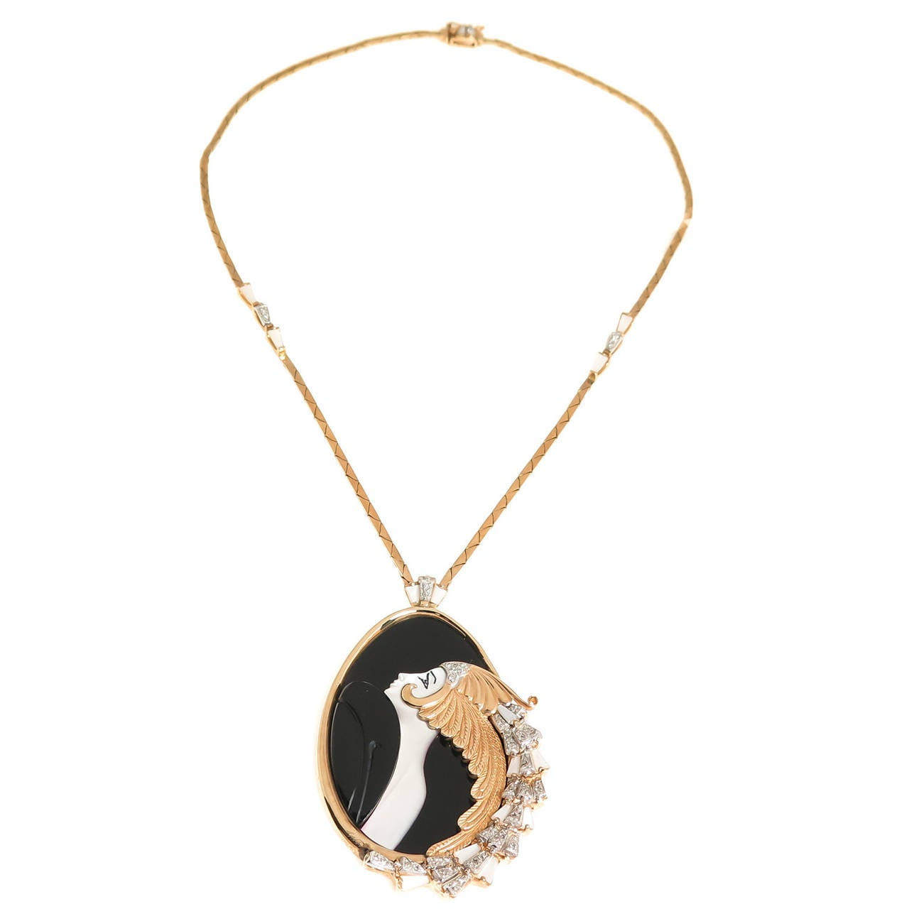 Erte Beauty and the Beast Necklace 1