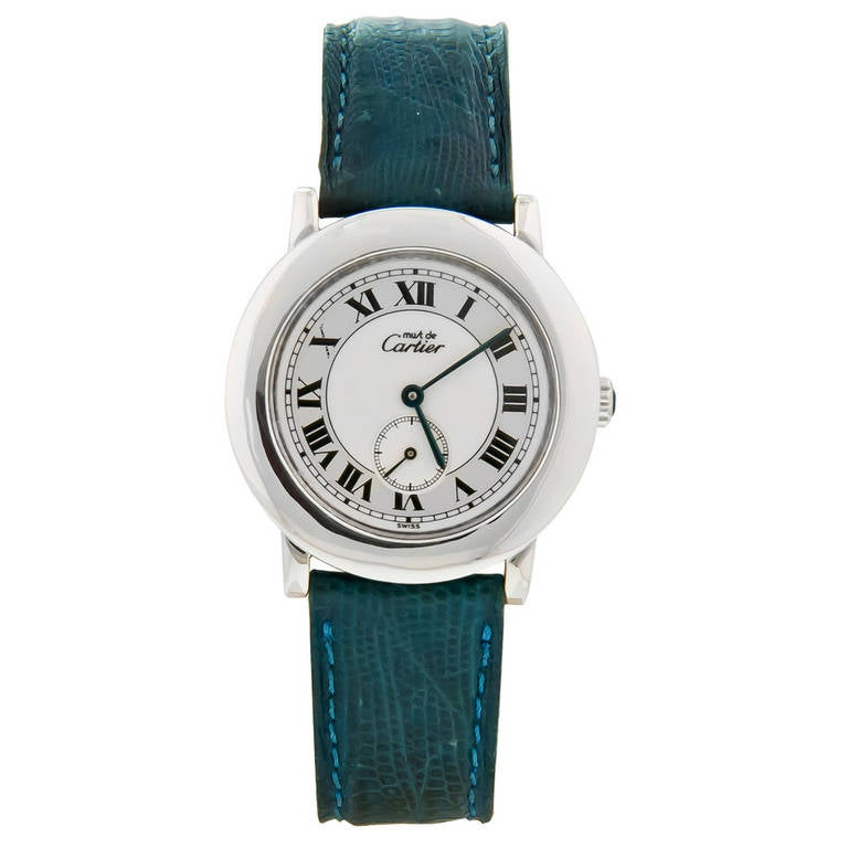 Cartier Sterling Silver Must De Cartier Wristwatch circa 2000 For Sale