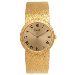 Piaget Lady's yellow Gold Bracelet Wristwatch