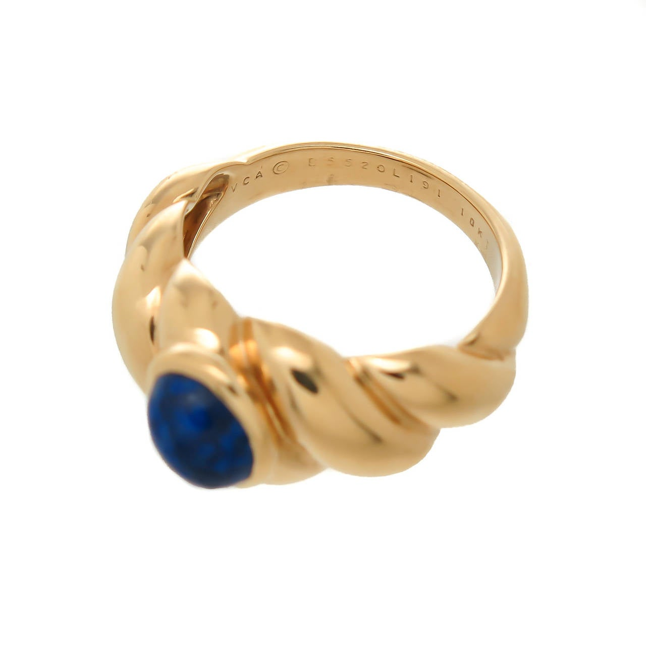 Van Cleef & Arpels Lapis Ring For Sale 1