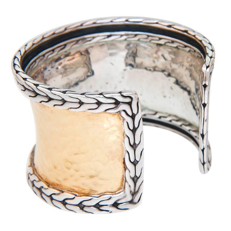 John Hardy Silver Gold Palu Cuff Bracelet At 1stdibs