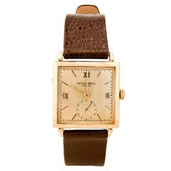 Patek Philippe Rose Gold Square Wristwatch circa 1940s