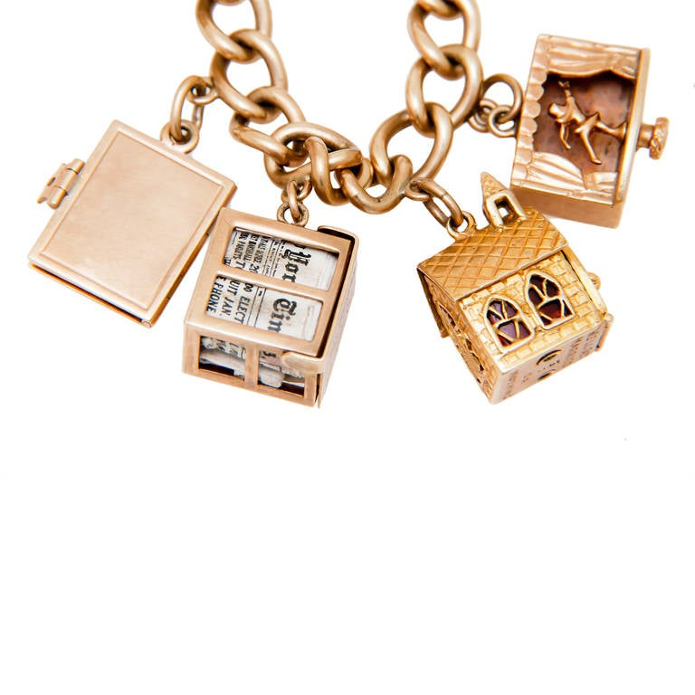 jewelry television shows television show presented gold charm bracelet at 1stdibs 8111