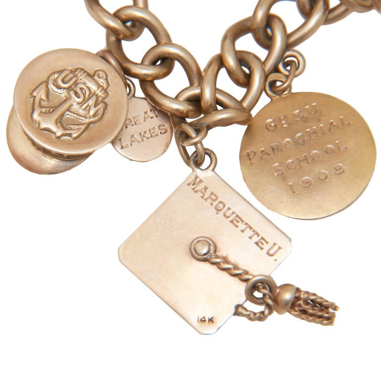 jewelry television shows television show presented gold charm bracelet at 1stdibs 4402